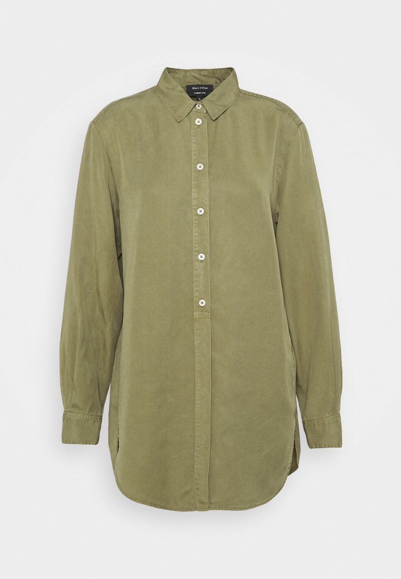 Marc O'Polo - BLOUSE LONG SLEEVE - Skjortekjole - dried sage