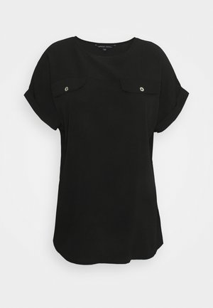UTILITY BOXY TOP - Print T-shirt - black
