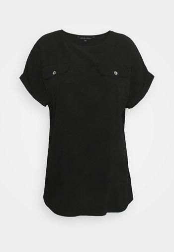UTILITY BOXY TOP - T-shirts med print - black