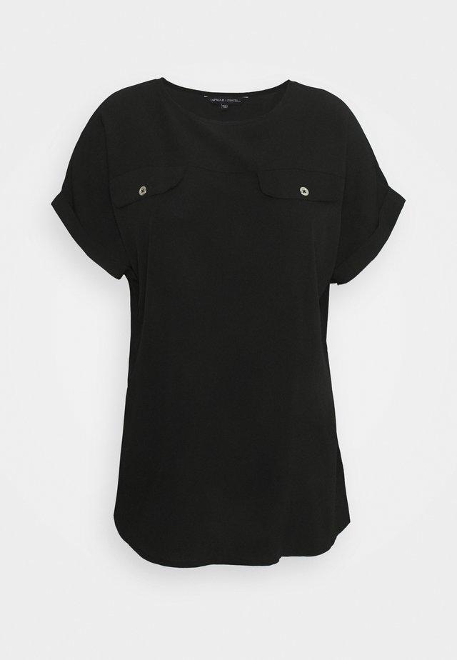 UTILITY BOXY TOP - Print T-shirt - black