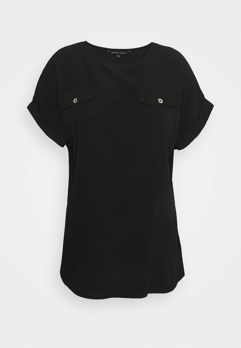 CAPSULE by Simply Be - UTILITY BOXY TOP - Print T-shirt - black