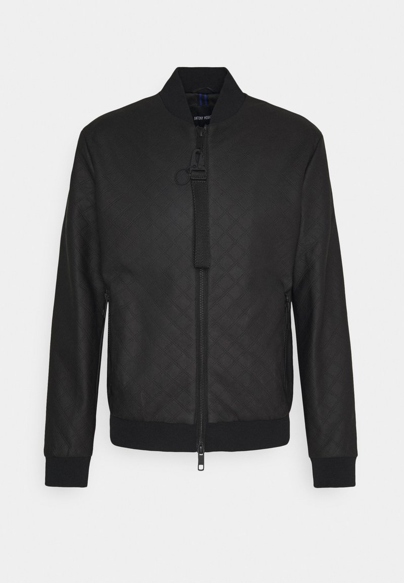 Antony Morato - COAT WITH EMBOSSED GEOMETRIC PATTERN - Imitatieleren jas - nero