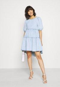 Gina Tricot - BABYDOLL DRESS - Denim dress - light blue - 1