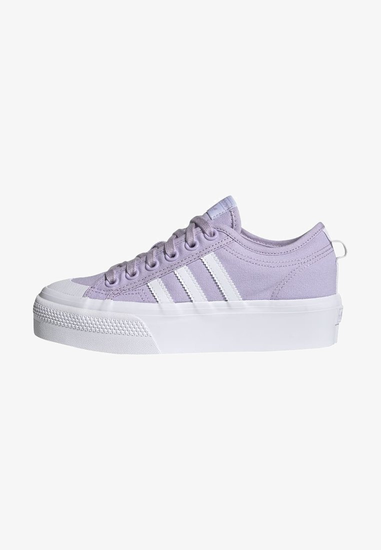 adidas Originals - NIZZA PLATFORM - Zapatillas - blipur/ftwwht/ftwwht