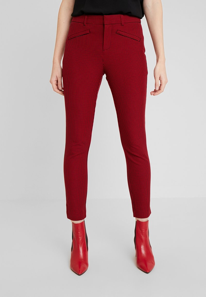 GAP - ANKLE BISTRETCH - Trousers - black/red