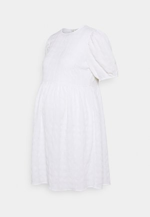 PCMTULLE DRESS  - Denní šaty - bright white