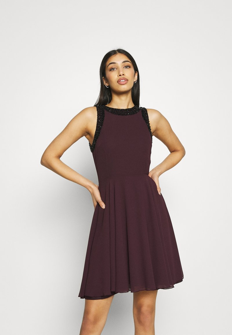 Lace & Beads - ALESSANDRA SKATER - Cocktail dress / Party dress - burgundy