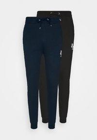 SIGNATURE 2 PACK - Teplákové kalhoty - black/navy