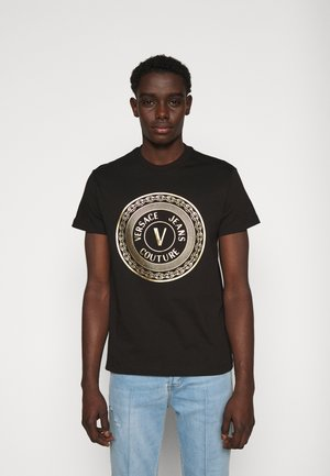 T-shirt imprimé - black / gold
