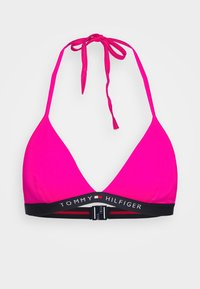 Tommy Hilfiger - CORE SOLID LOGO TRIANGLE FIXED - Bikini top - pink glo