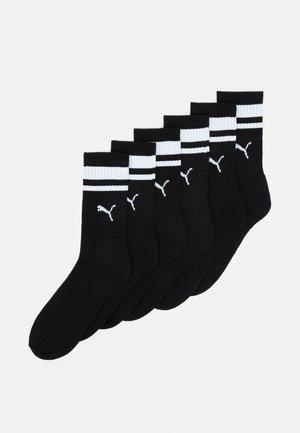 CREW HERITAGE UNISEX 6 PACK - Sportovní ponožky - black