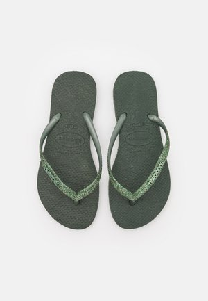 SLIM GLITTER - Pool shoes - green olive