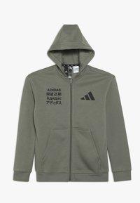 adidas Performance - veste en sweat zippée - dark green - 0