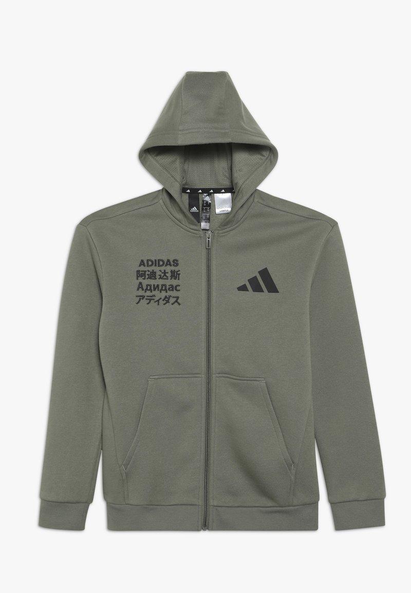 adidas Performance - veste en sweat zippée - dark green