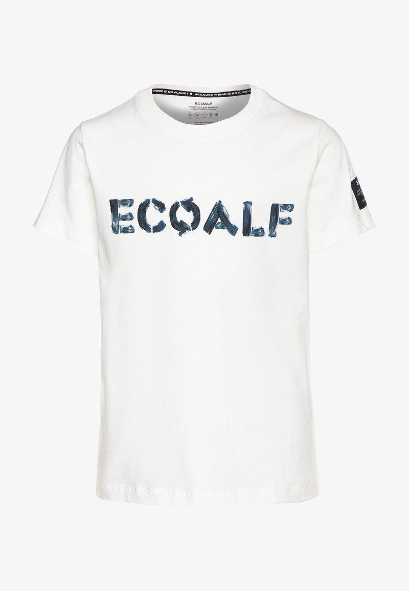 Ecoalf - LOWER KIDS - Print T-shirt - offwhite