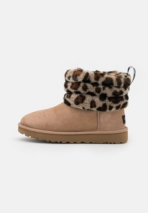 FLUFF MINI QUILTED LEOPARD - Classic ankle boots - amphora
