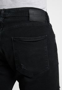 Jack & Jones - Denim shorts - black denim - 5