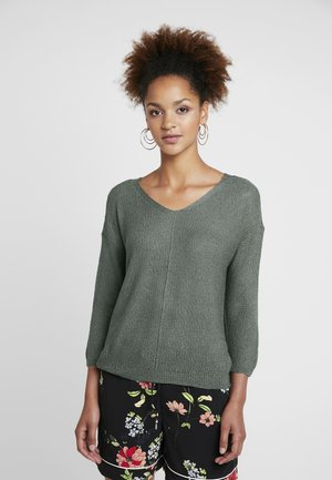 ONLTHEA V NECK LIGHT - Strickpullover - balsam green