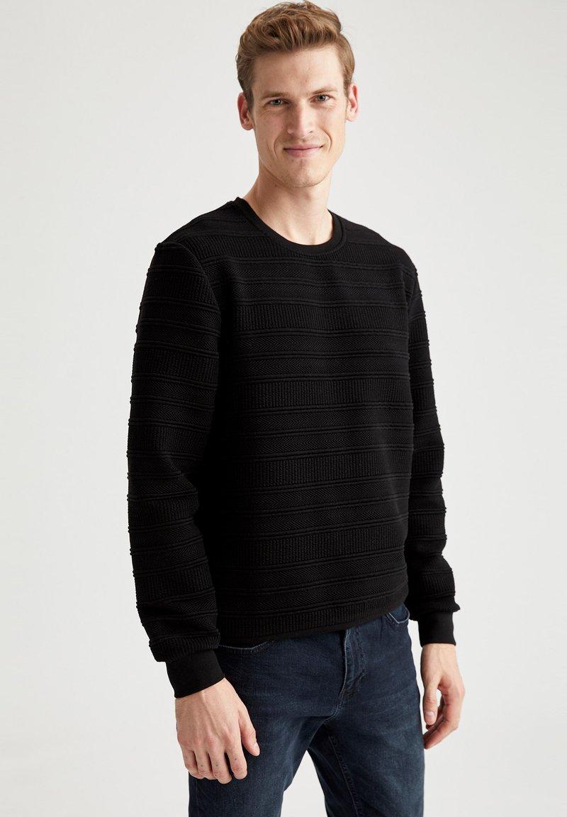 DeFacto - Stickad tröja - black