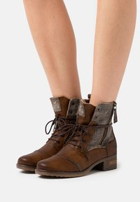Mustang - Lace-up ankle boots - cognac - 0
