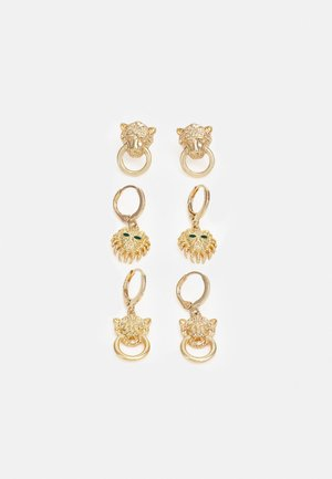 PCLIONA EARRINGS 3 PACK - Kolczyki - gold-coloured