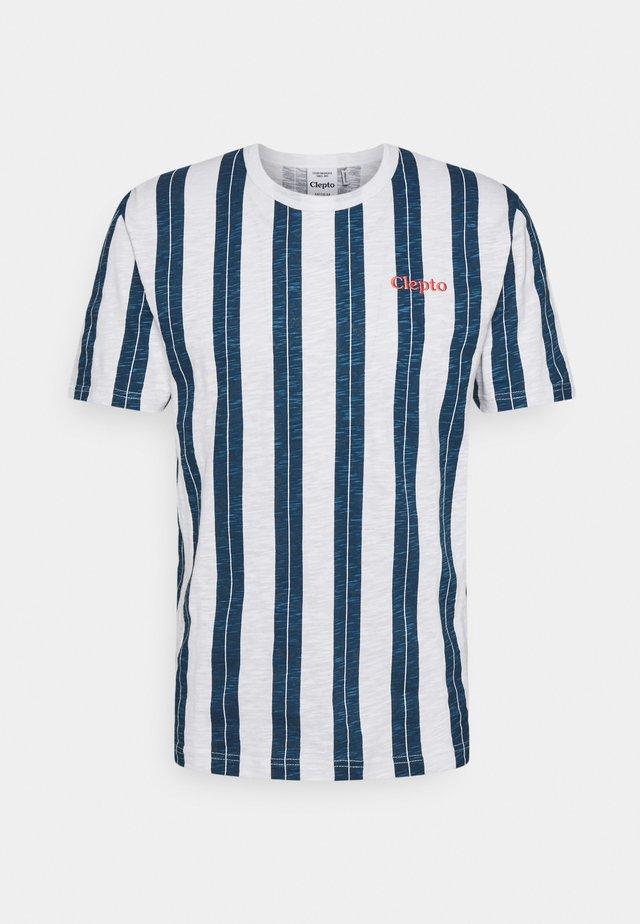 SOIR - T-shirt print - blue wing