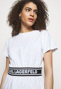 KARL LAGERFELD - LOGO TAPE - Pyjama top - white - 3