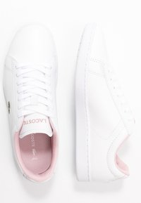 Lacoste - CARNABY EVO  - Trainers - white/light pink - 3