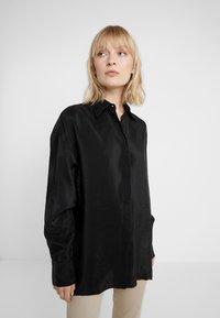 Filippa K - TECH - Button-down blouse - black - 0