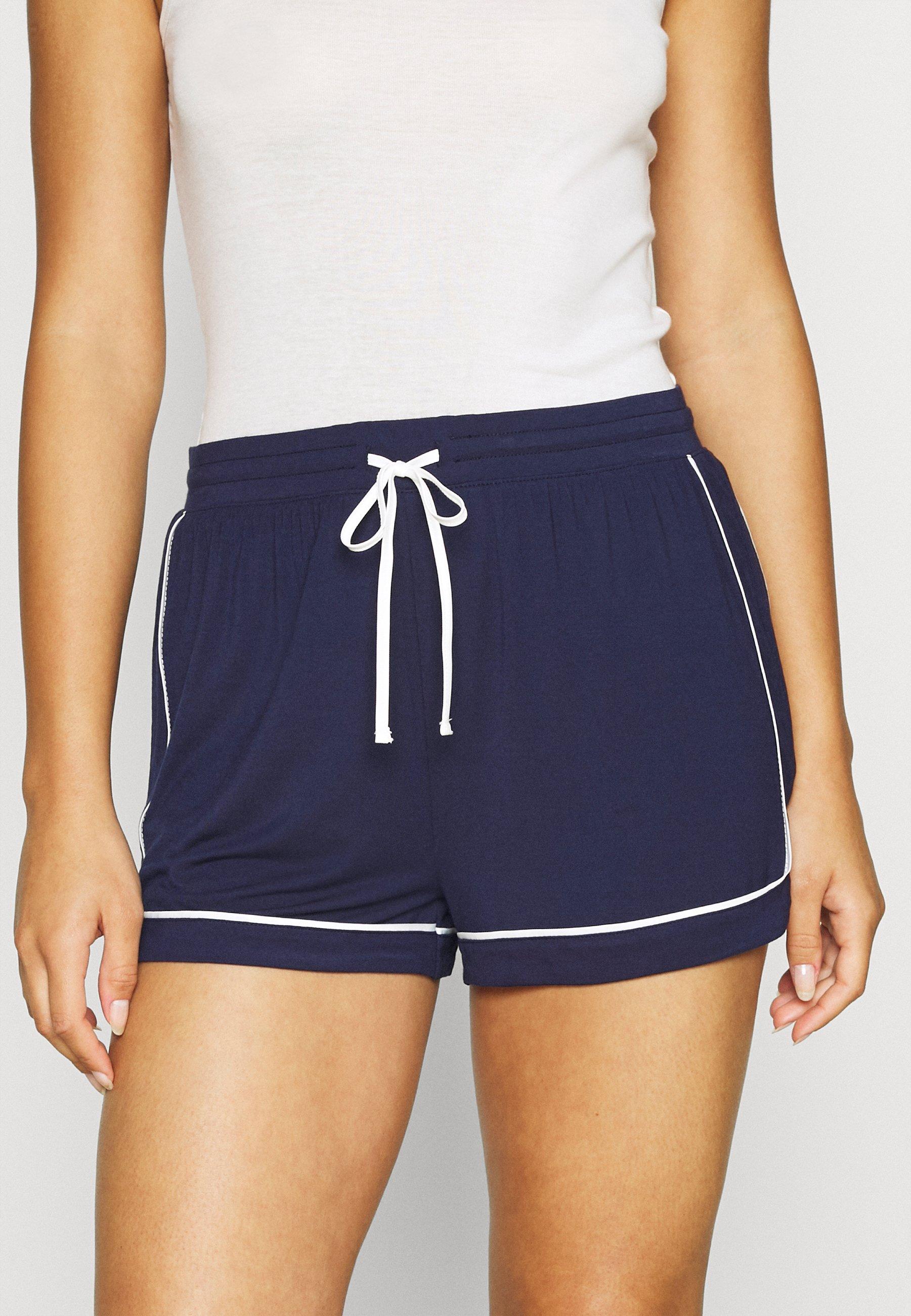 Damen PIPING TIE SHORT - Nachtwäsche Hose