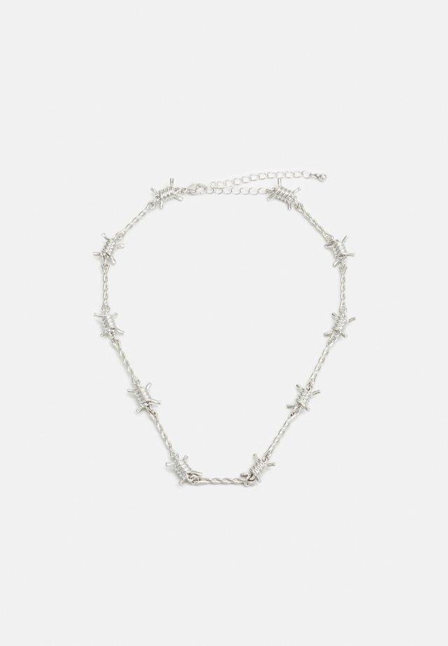 BARB WIRE CHOKER - Naszyjnik - silver-coloured