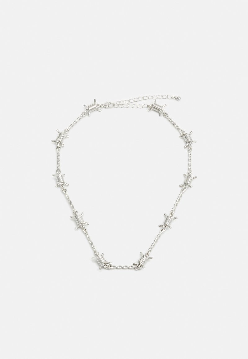 Topman - BARB WIRE CHOKER - Necklace - silver-coloured