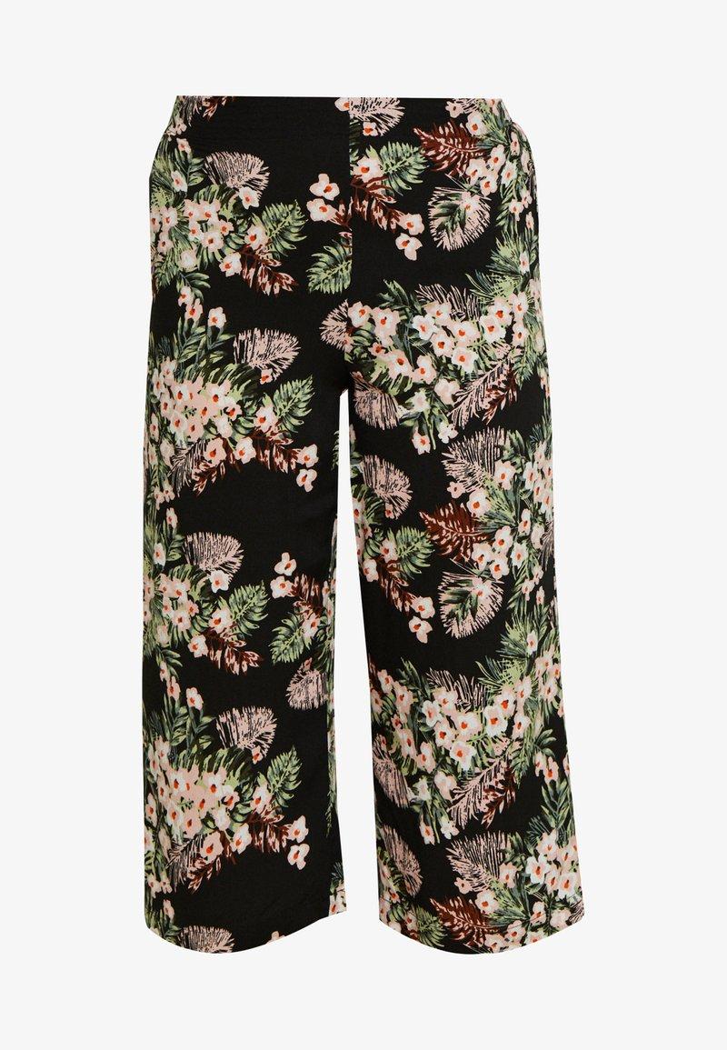 Vero Moda Petite - VMSIMPLY EASY CULOTTE PANT - Kalhoty - black/pilar