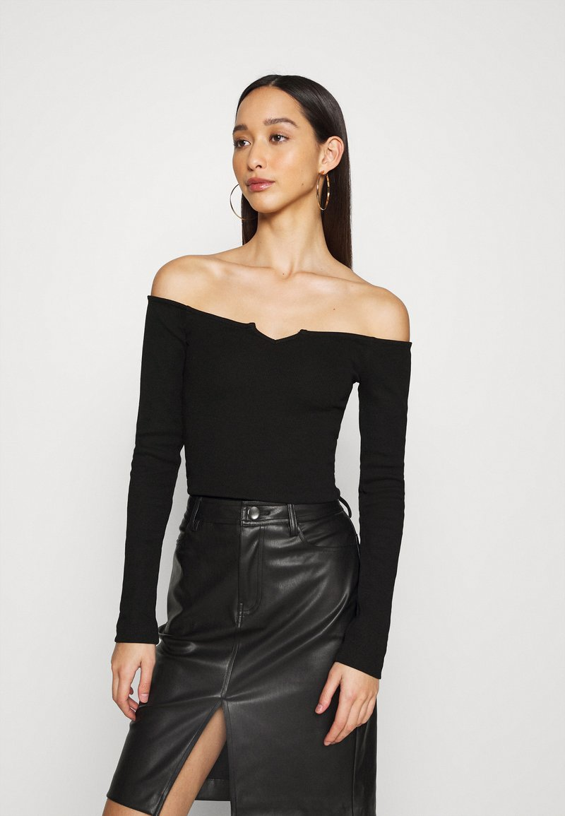 Nly by Nelly - OFF SHOULDER - Long sleeved top - black
