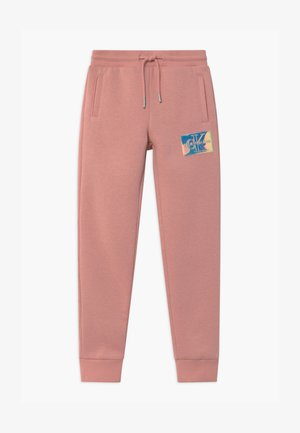 MONOGRAM BADGE - Tracksuit bottoms - pink