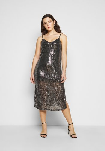CARVENDI CALF STRAP DRESS - Cocktail dress / Party dress - silver