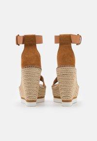See by Chloé - GLYN HIGH - Korolliset sandaalit - light pastel brown - 3