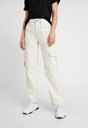 STITCH SKATE - Jeansy Relaxed Fit - ecru