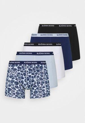 ESSENTIAL BOXER 5 PACK - Underbukse - black/dark blue