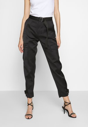 SKUNK - Cargo trousers - black