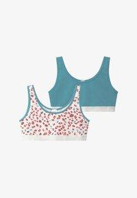 Skiny - GIRLS 2 PACK - Korzet - white/turquoise - 3