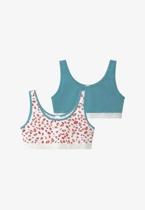 GIRLS 2 PACK - Bustier - white/turquoise