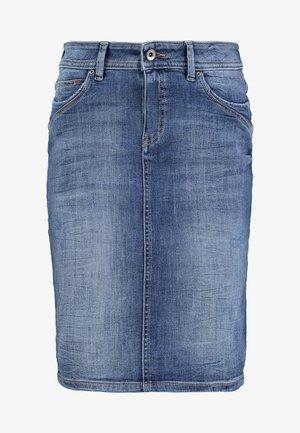 PENCIL SKIRT - Spódnica jeansowa - blue dark