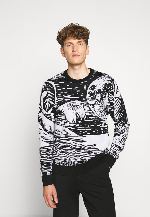 GENTS CREW NECK - Jersey de punto - black