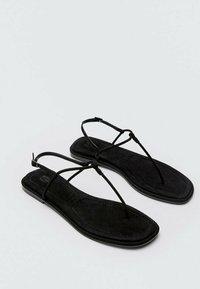Massimo Dutti - T-bar sandals - black - 4