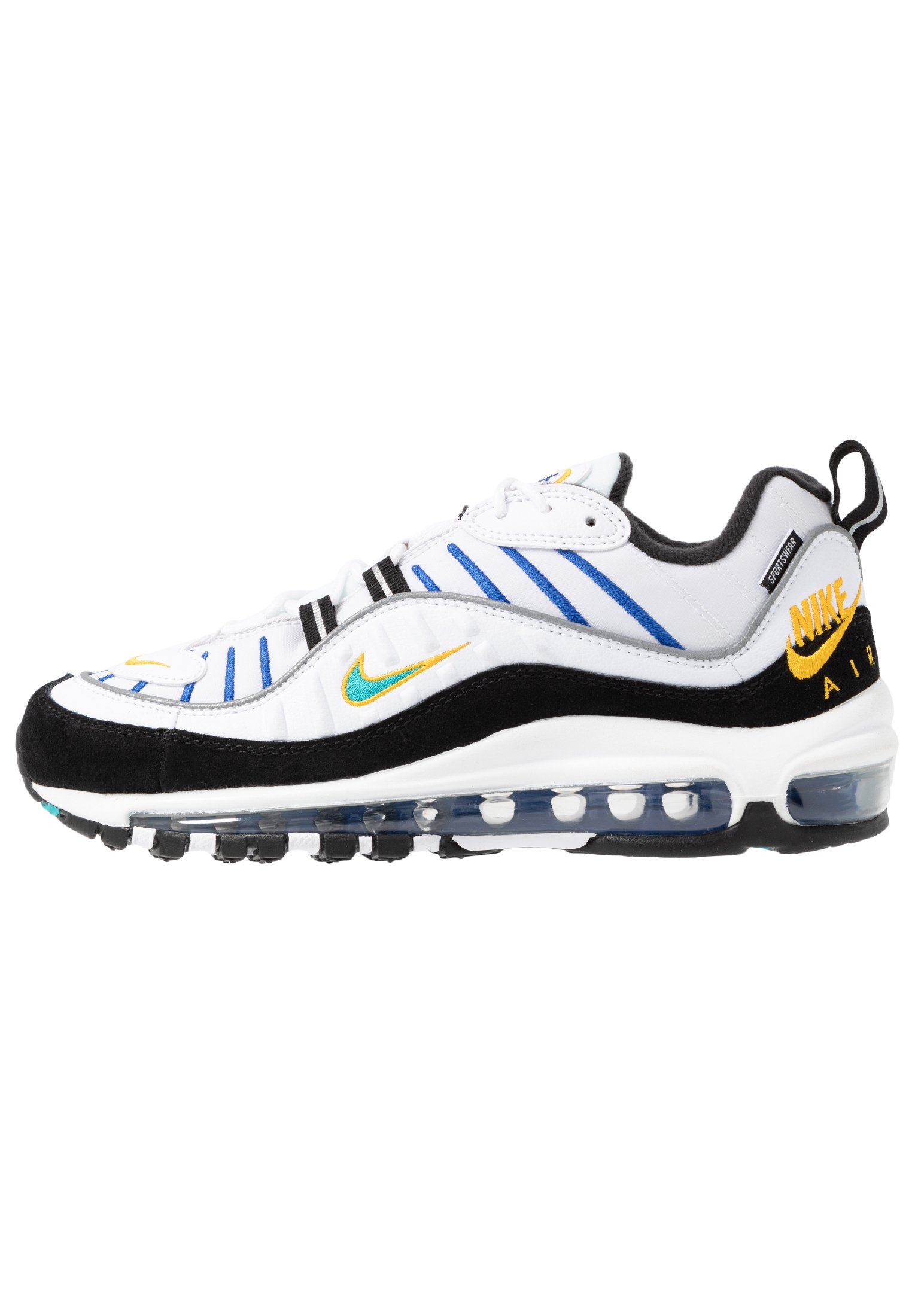 AIR MAX 98 PRM - Sneakers laag - white/university gold/black/game royal