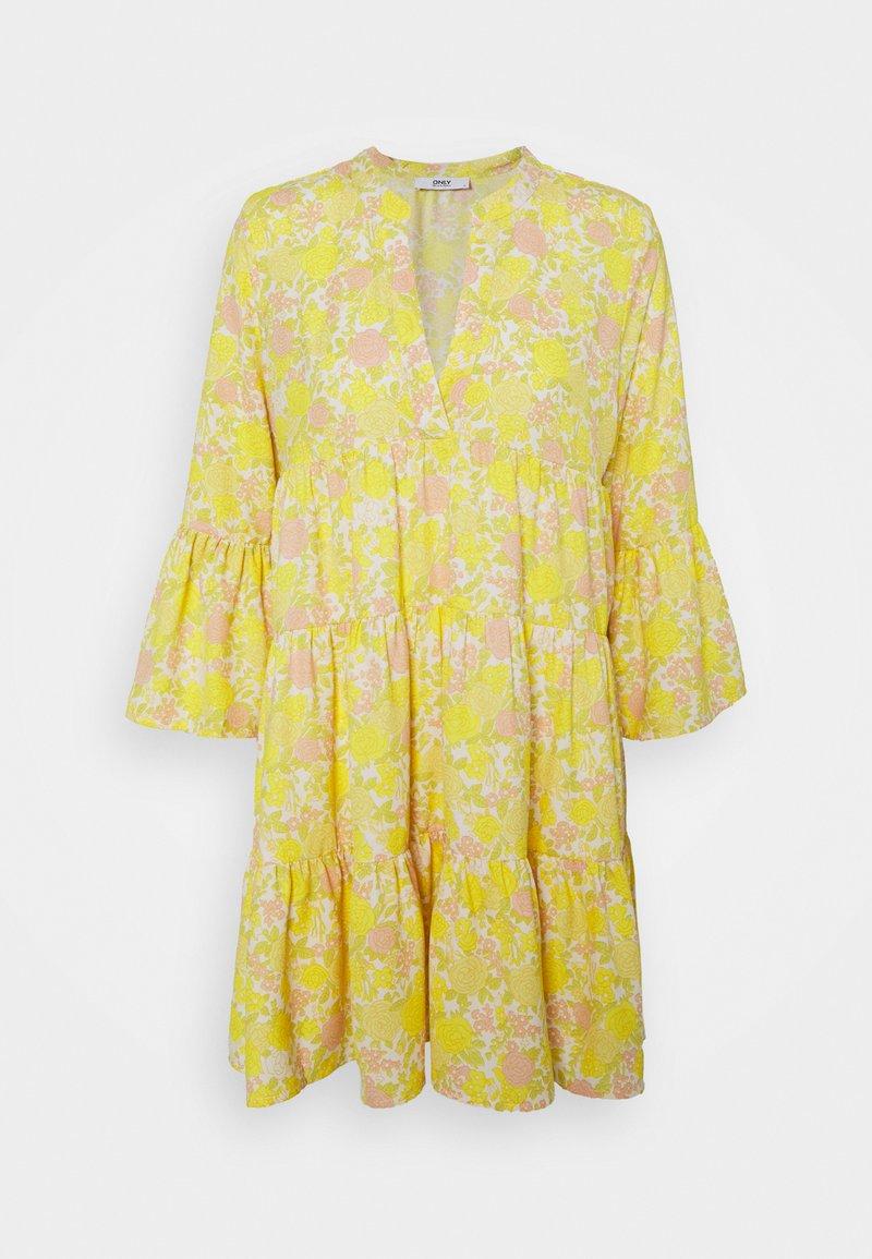 ONLY Petite - ONLATHENA DRESS - Kjole - white/yellow