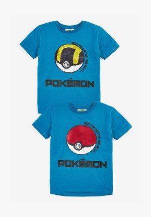 POKÉMON SEQUIN T SHIRT - Print T-shirt - teal