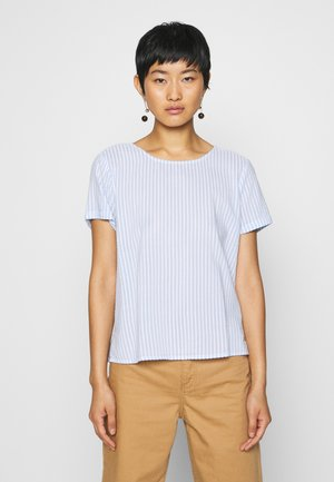 STRIPED BOXY - Blusa - blue/white