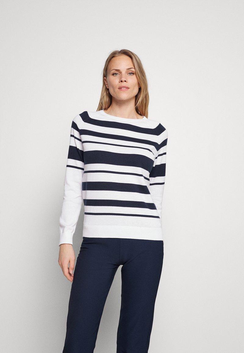 Puma Golf - RIBBON - Pullover - bright white/navy blazer